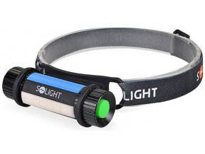 Solight |WL105| LED ruční a čelová svítilna 2v1, 90 + 140lm, 3x AAA