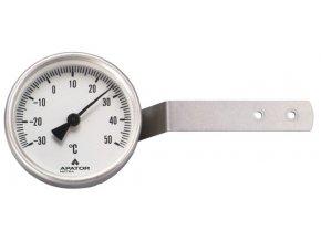 Okenní teploměr bimetalový, -30 až +50 °C, nerez
