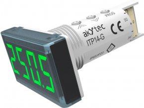 Univerzální panelový měřič Akytec, ITP14-G, 4-20mA, 0-10 V, zelená