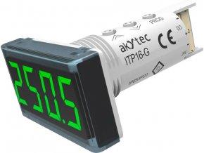 Teplotní panelový měřič Akytec, ITP16-G, vstup pro termočlánky a RTD, zelená