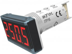Teplotní panelový měřič Akytec, ITP16, vstup pro termočlánky a RTD, červená