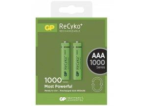 Nabíjecí baterie GP ReCyko+ 1000 HR3 (AAA), krabička, 2 kusy | B1411