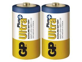 Monočlánková baterie C - GP Ultra Plus Alkaline