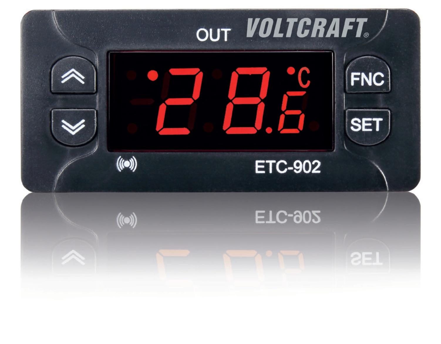 Termostat VOLTCRAFT ETC-902, typ senzoru NTC, PTC, -30 až 50 °C