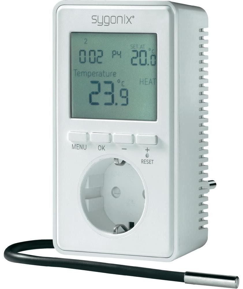 Univerzální termostat s displejem Sygonix tx.3, 38923W, -20 až 70 °C, CZ