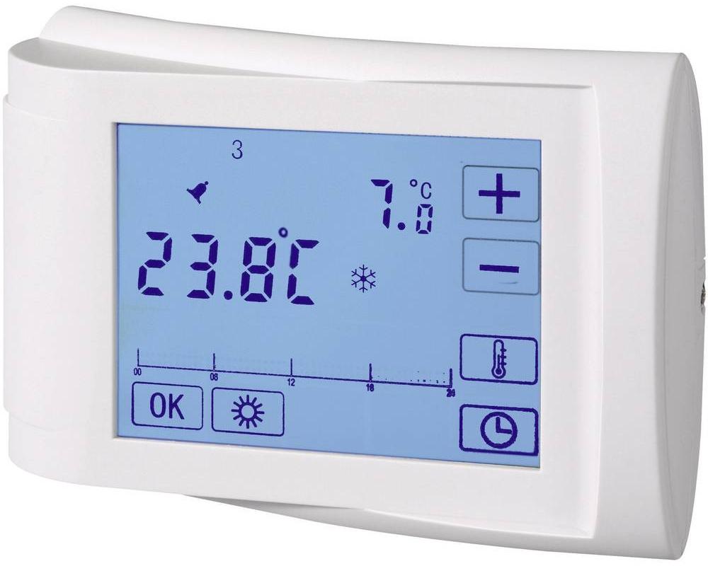 Conrad Pokojový termostat s týdenním programem s LCD, 5 až 35 °C, bílá
