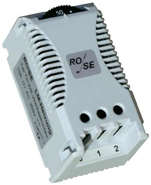 RO/SE Termostat Rose TH-WE na DIN lištu, 0-60 °C, max. 10A
