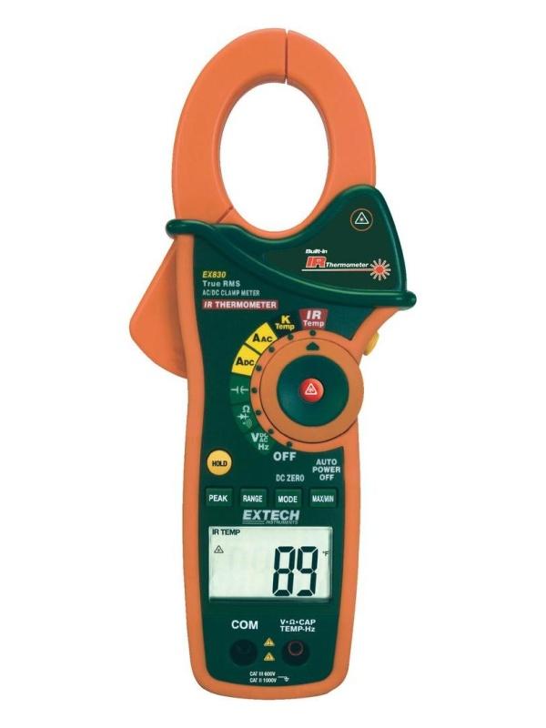 Extech Digitální klešťový ampérmetr + infra teploměr EX830