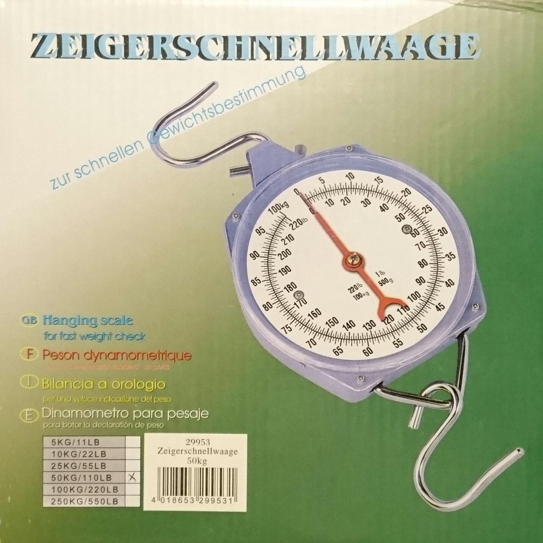 Nespecifikovano Levná závěsná váha - mechanický mincíř do 50 kg