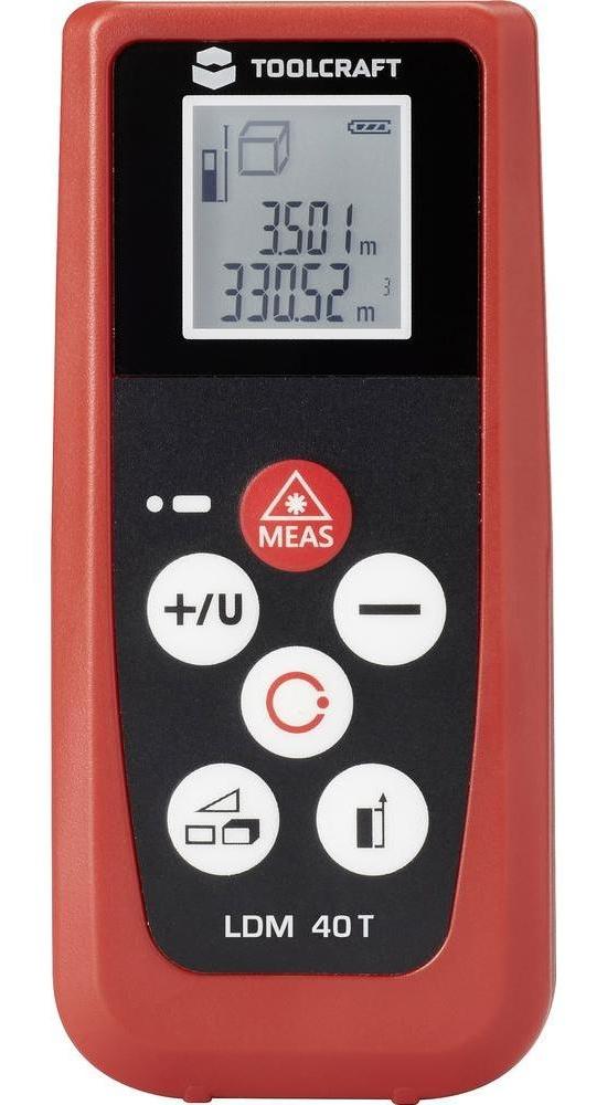 Laserový měřič vzdálenosti TOOLCRAFT LDM 40T, Rozsah měření (max.) 40 m
