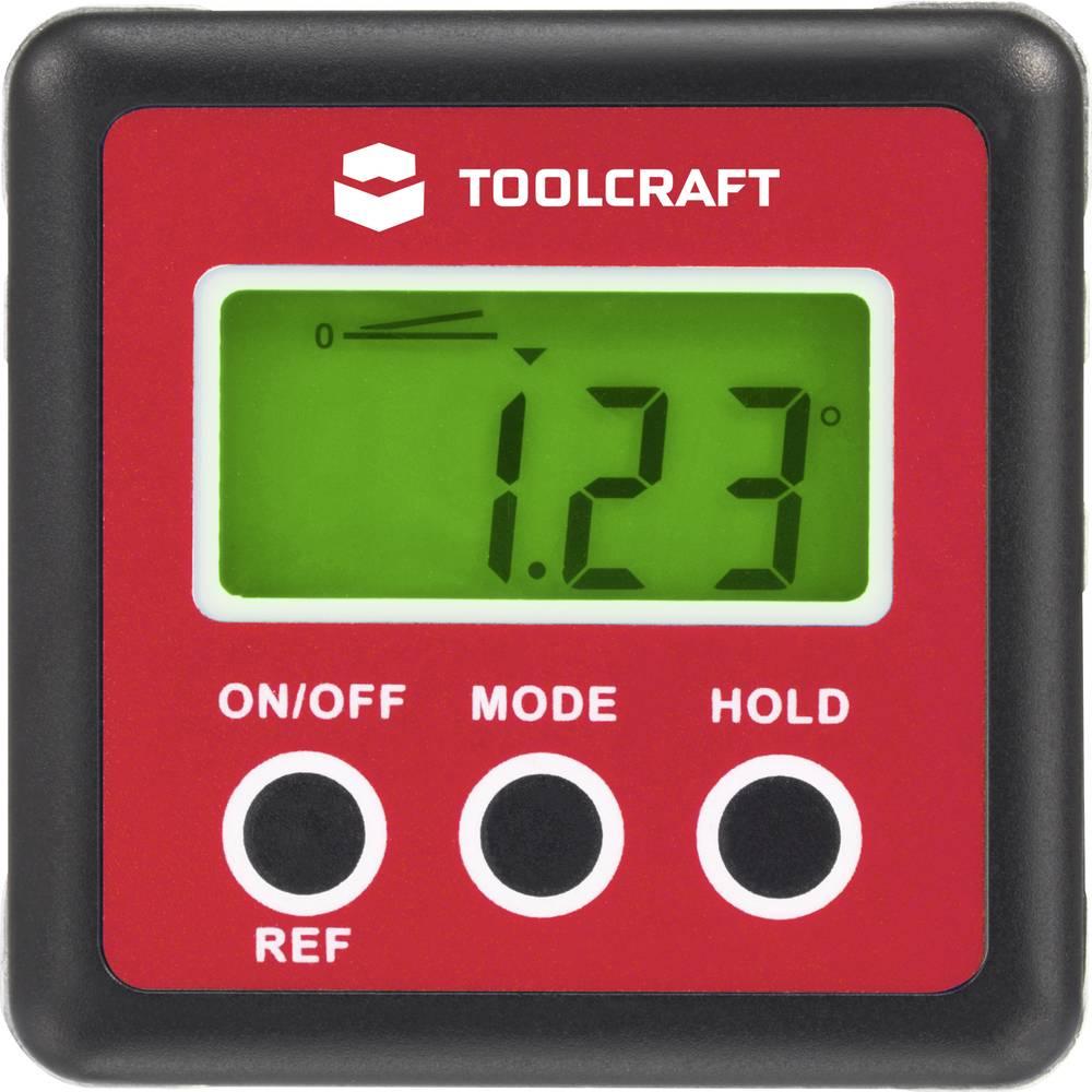 Digitální úhloměr TOOLCRAFT | 5 x 5 cm | přesnost: ±0,1°