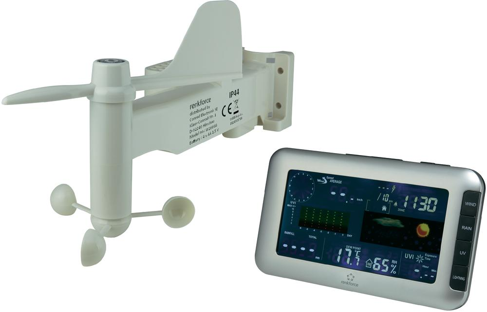Digitální bezdrátová meteostanice Renkforce W205GU, Max. dosah 100 m
