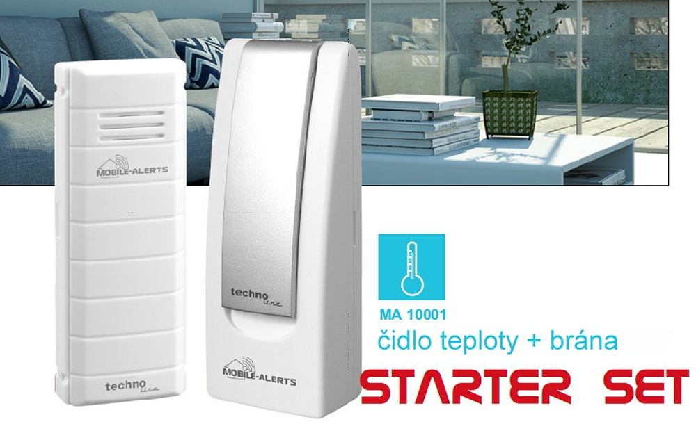 Techno Line Monitorovací systém Technoline MOBILE-ALERTS, MA10001 Starter Set