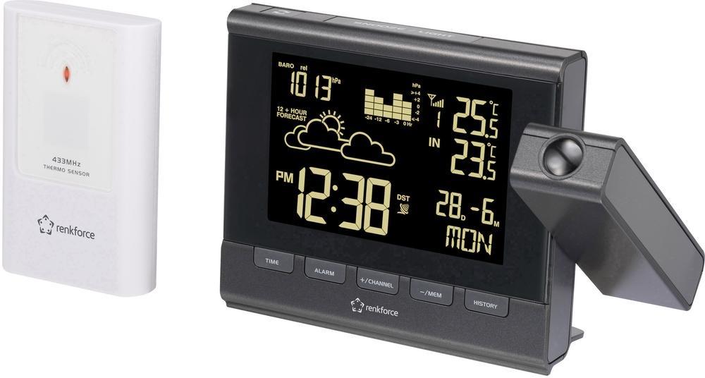Meteorologická stanice Renkforce C8416/C8339 s projekcí času i předpovědí počasí