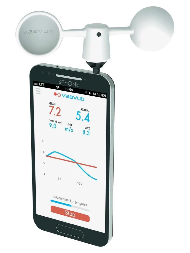 TFA Dostmann Smartphone anemometr MJOLNIR - měření rychlosti větru