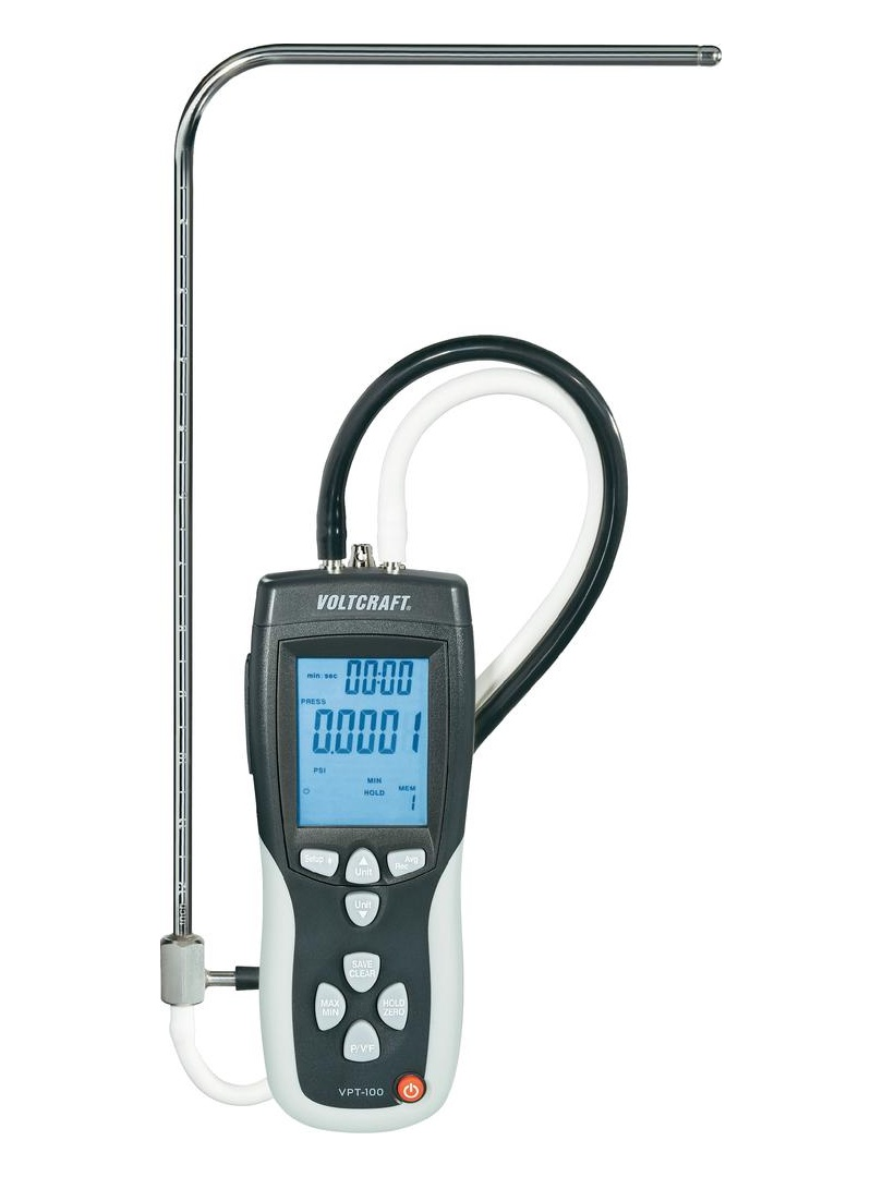 Diferenční anemometr-tlakoměr, 1 až 80 m s, Voltcraft VPT-100