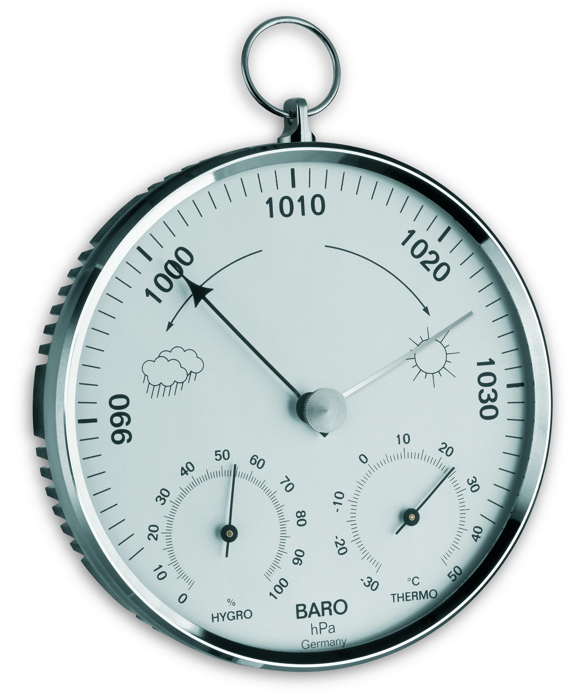 TFA Dostmann Analogový barometr-teploměr-vlhkoměr TFA 20.3006.42, stříbrný