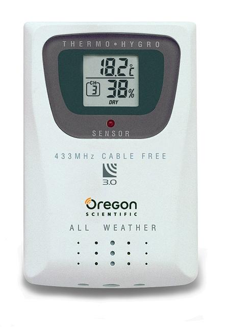 Oregon Scientific Bezdrátový senzor teploty a vlhkosti s displejem THGR810