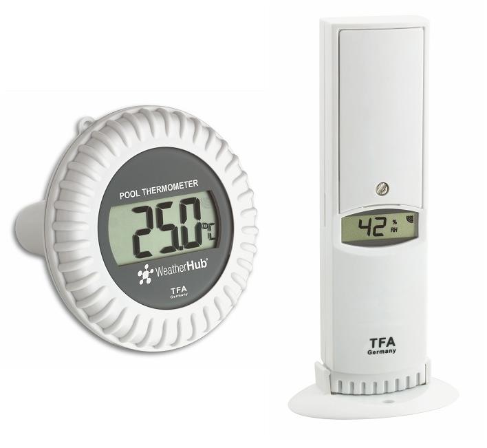TFA Dostmann Bezdrátové čidlo teploty a vlhkosti s bazénovým čidlem TFA 30.3310.02 pro WEATHERHUB