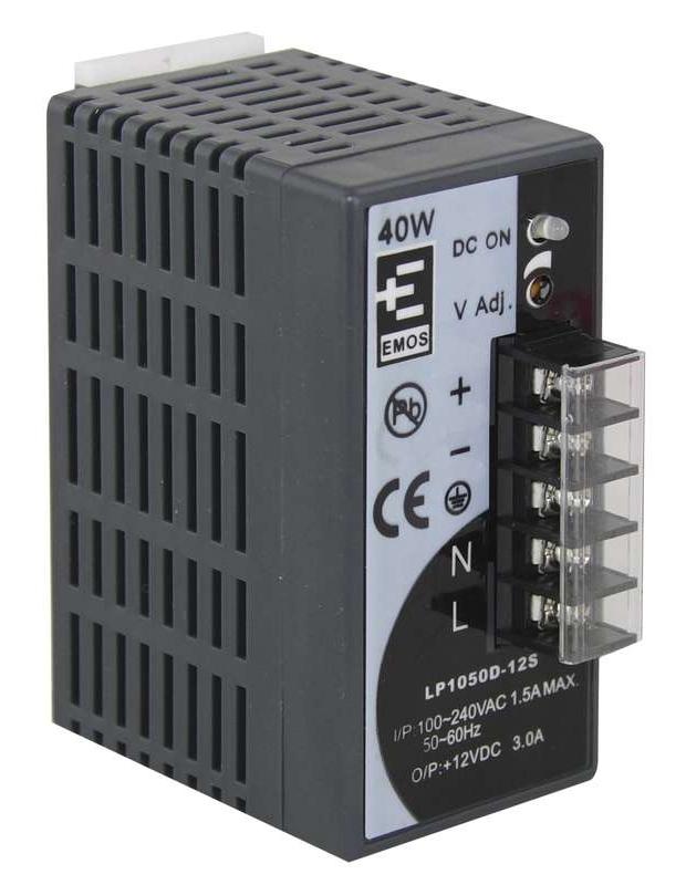 Emos Zdroj pro CCTV 12VDC/3A, instalace na DIN lištu