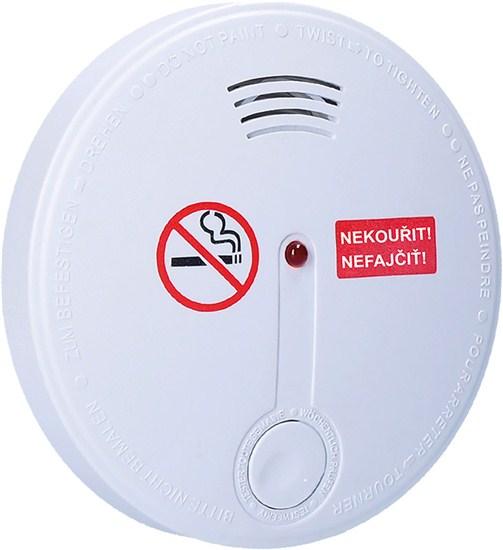 Solight 1D32 | detektor cigaretového kouře + alarm, 85dB, bílý + 9v baterie