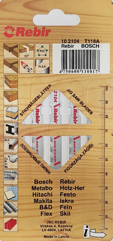 REBIR Pilové plátky do přímočarých pil | na kov | 50 mm | 5 kusů | 102104