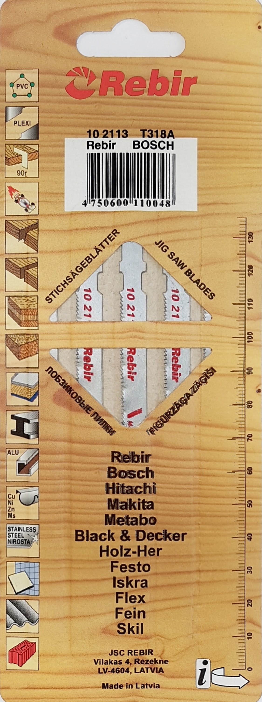 REBIR Pilové plátky do přímočarých pil | na železo | 105 mm | 5 kusů | 102113