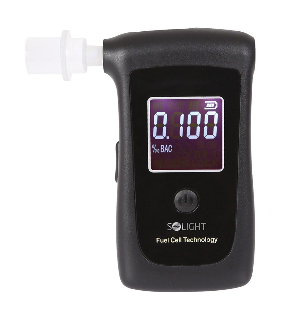 Solight 1T06 | alkohol tester, profesionální Fuel Cell, 0,0 - 4,0‰ BAC,citlivost 0,008‰