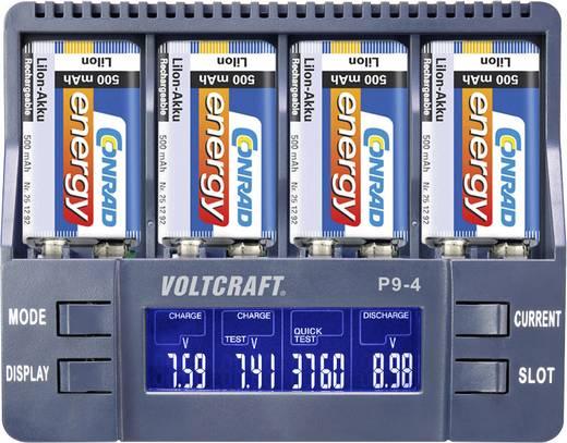 Nabíječka 9 V akumulátorů VOLTCRAFT P9-4 pro akumulátory Li-Ion, NiCd, NiMH