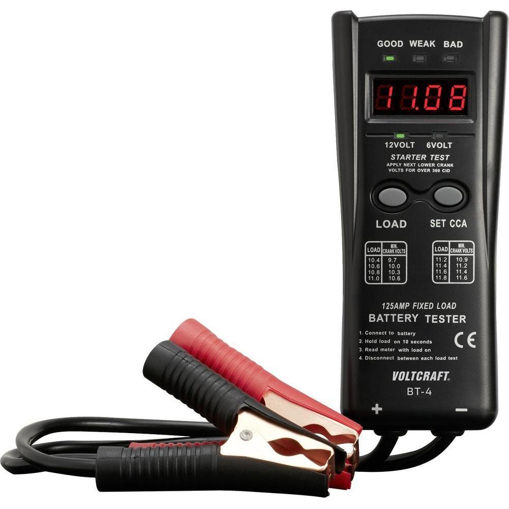Tester olověných akumulátorů VOLTCRAFT BT-4 LED