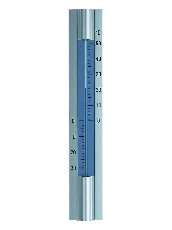 TFA Dostmann Elegantní hliníkový teploměr, výška 30 cm TFA 12.2045