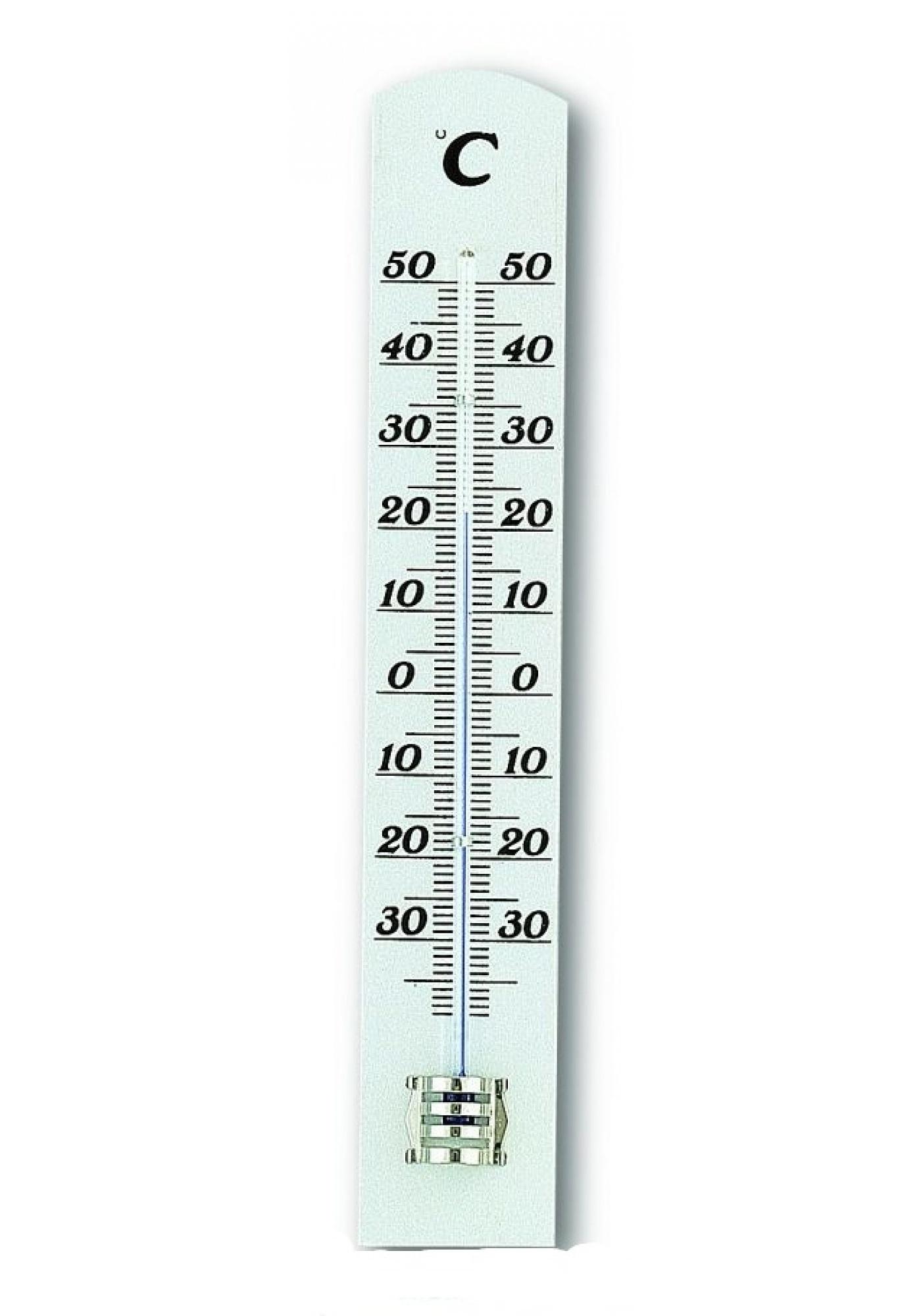 TFA Dostmann Dřevěný kapalinový teploměr TFA 12.1003.09 - bílý