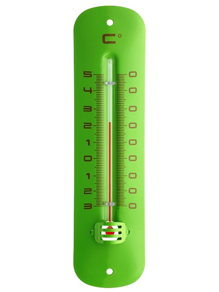 TFA Dostmann Kapalinový IN/OUT teploměr TFA 12.2051.04 - zelený, kovový