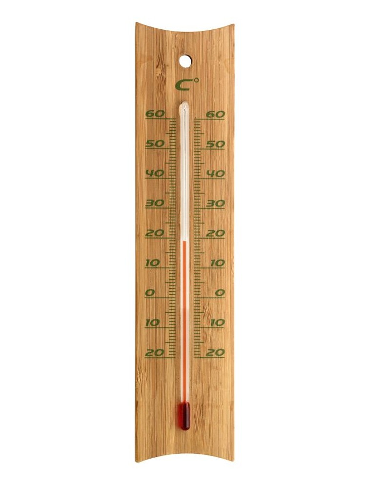 TFA Dostmann Bambusový indoor outdoor teploměr TFA 12.1049