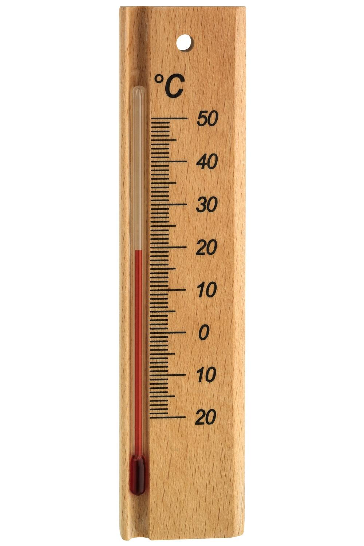 TFA Dostmann Pokojový teploměr TFA 12.1053.05, masivní dřevo - buk