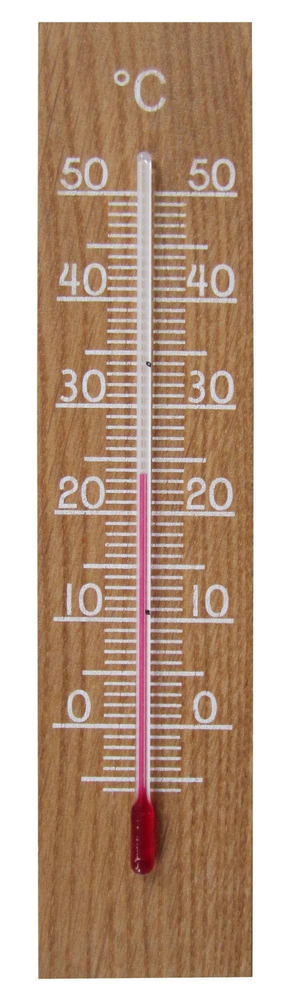 TFA Dostmann Vnitřní dřevěný teploměr TFA 12.1054.01; dub
