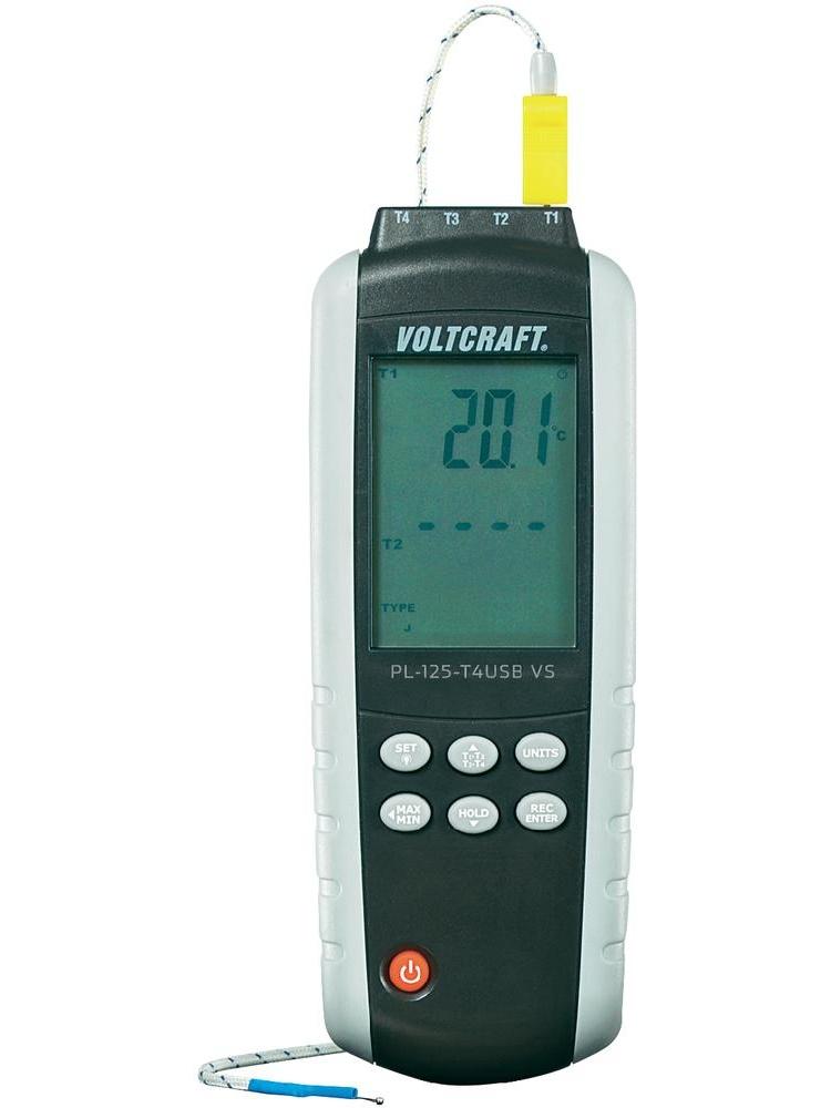 Digitální teploměr Voltcraft PL-125-T4 USB, 4 kanálový datalogger
