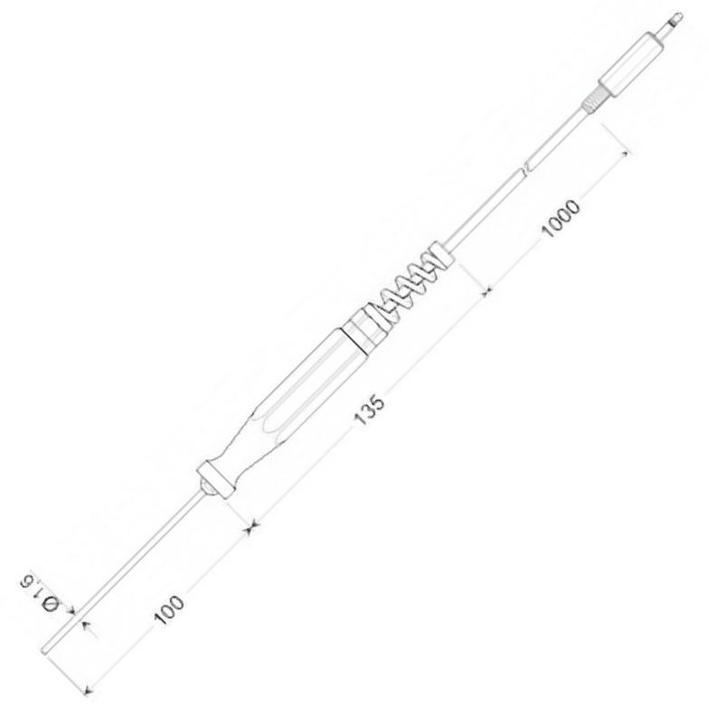 Greisinger GTF 175/1.6 | Pt1000 | Ponorné teplotní čidlo pro kapaliny a plyny