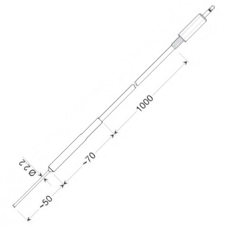 Greisinger GOF 175 Mini | Pt1000 | Povrchový snímač teploty pro pevné povrchy