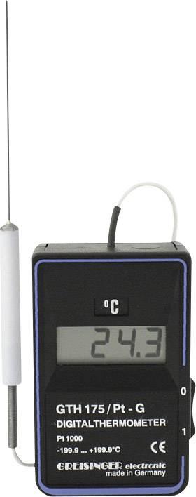 Greisinger Přesný digitální teploměr GTH 175 Pt-G, -199,9 až +199,9°C, teplotní čidlo Pt1000