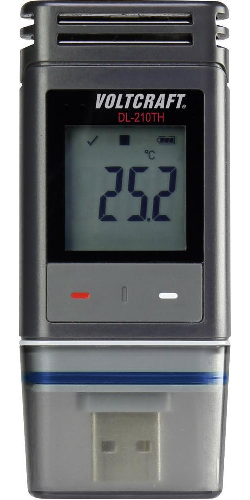 Teplotní a vlhkostní datalogger Voltcraft DL-210TH - registrační vlhkoměr