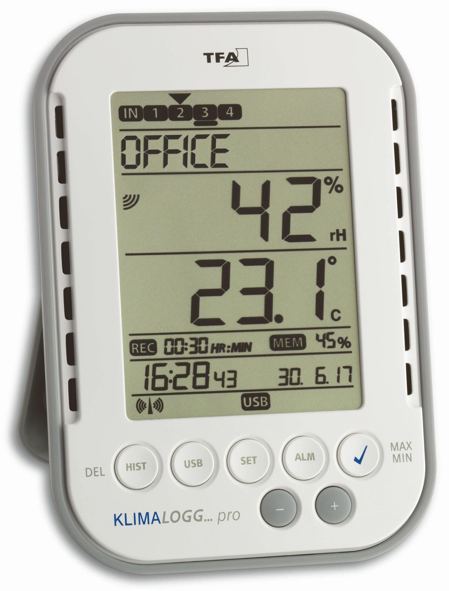 TFA Dostmann USB datalogger vlhkosti a teploty TFA 30.3039.IT