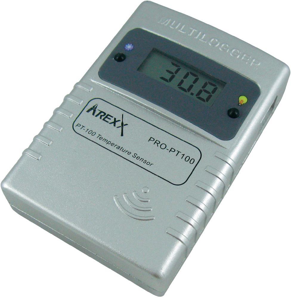 Bezdrátový teplotní senzor PRO-PT100 pro Multiloggery Arexx, -200 až +400°C