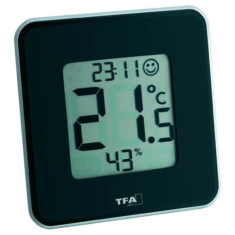 TFA Dostmann Digitální vlhkoměr a teploměr TFA 30.5021.01 - černý