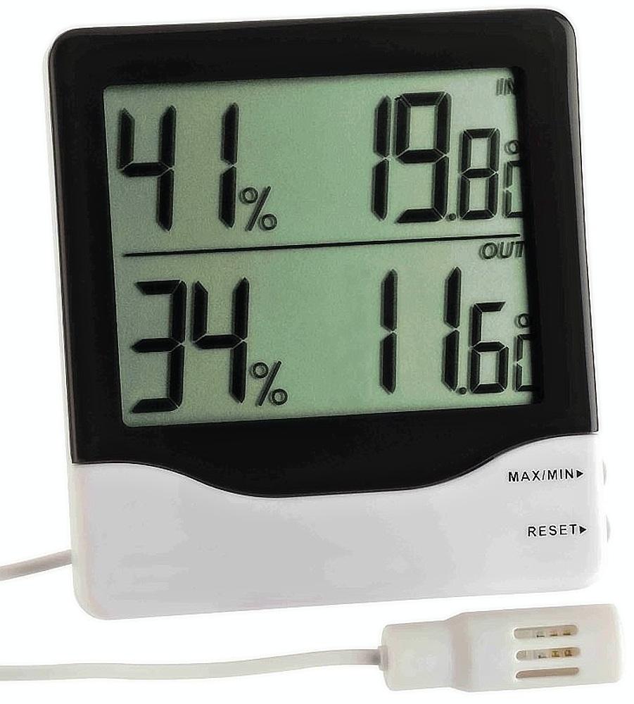 TFA Dostmann Digitální vlhkoměr-teploměr s kabelovým čidlem TFA 30.5013
