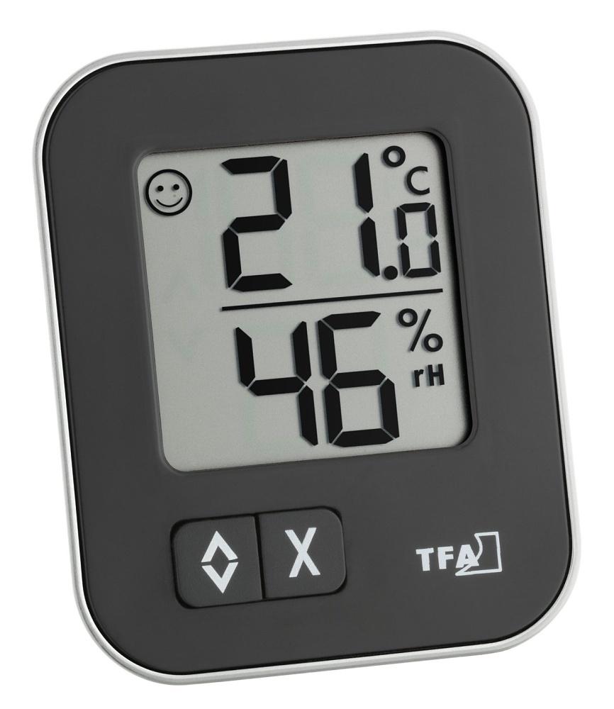TFA Dostmann Digitální teplo-vlhkoměr MOXX TFA 30.5026.01 - černý