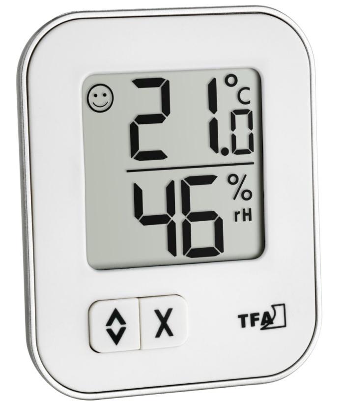 TFA Dostmann Digitální teplo-vlhkoměr MOXX TFA 30.5026.02 - bílý