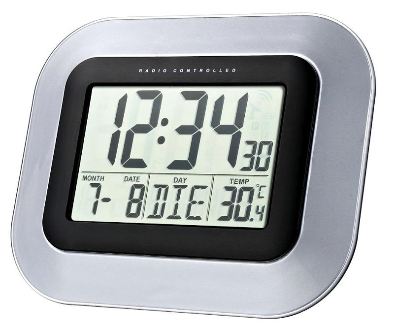 Digitální nástěnné DCF hodiny Techno Line WS 8005, 228×180×28 mm