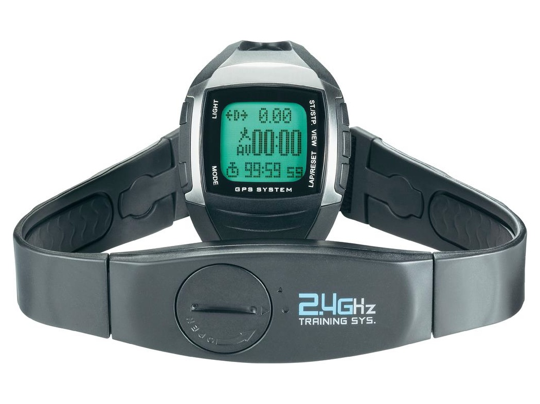 Conrad Sportovní hodinky s měřením pulzu s GPS MULTI NAV-3, černá/stříbrná