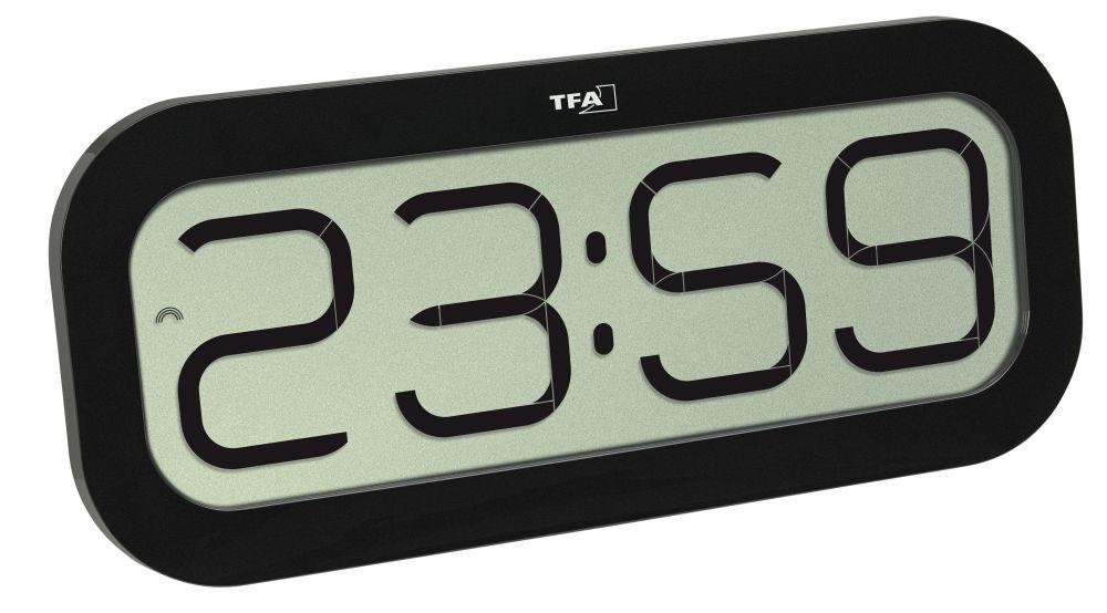 TFA Dostmann Rádiem řízené nástěnné hodiny TFA 60.4514.01 BimBam, černé